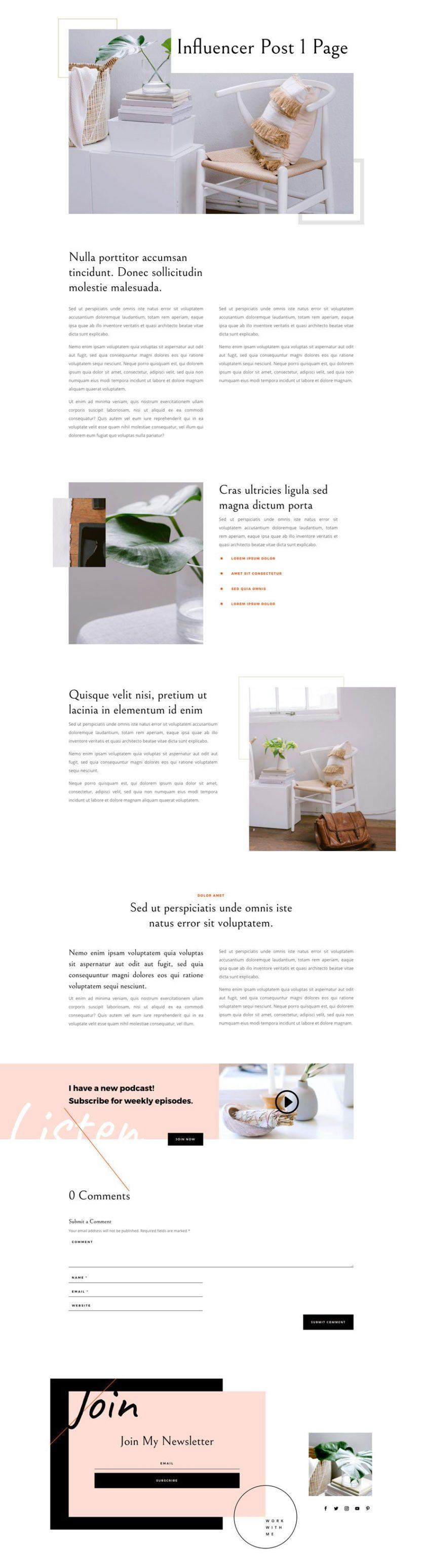 divi influencer layout pack