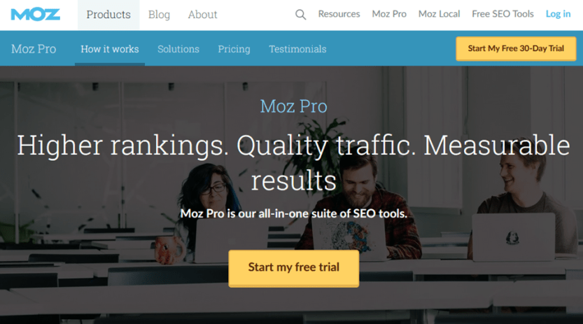 moz pro link checking