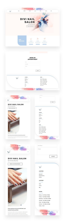 nail salon header and footer