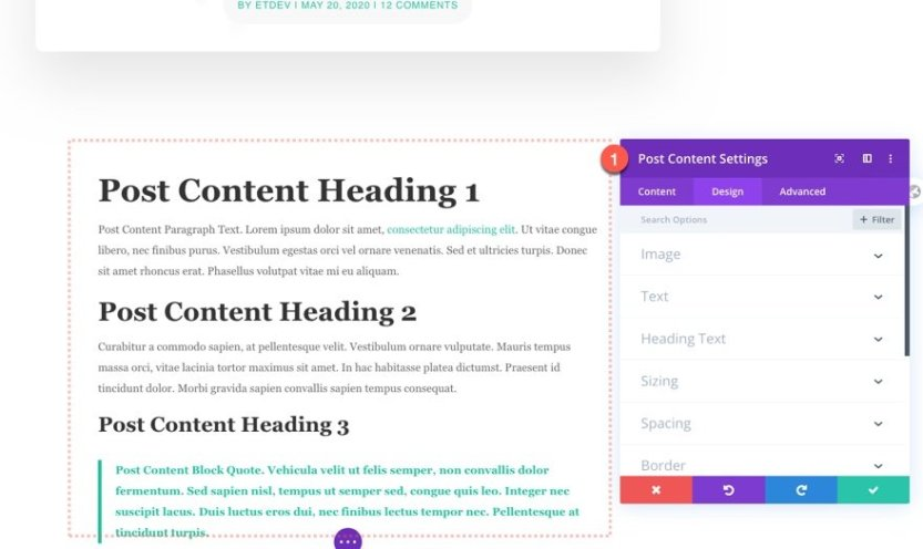blog post template for charity layout