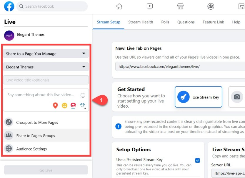 facebook live pages and groups