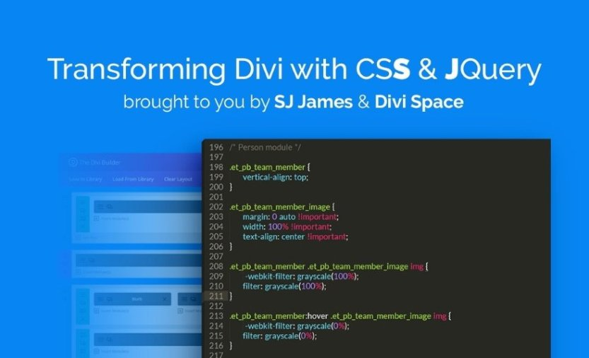 Transforming Divi with CSS & jQuery Course