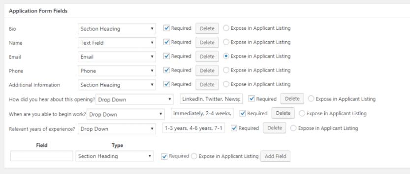 Creating a custom job application form with Simple Job Board.