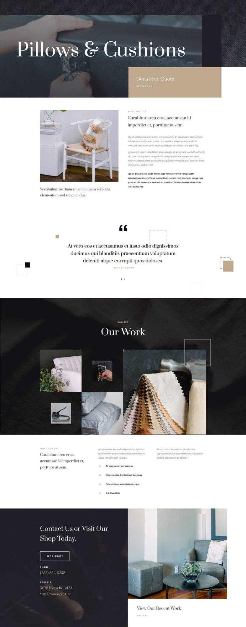 upholstery website