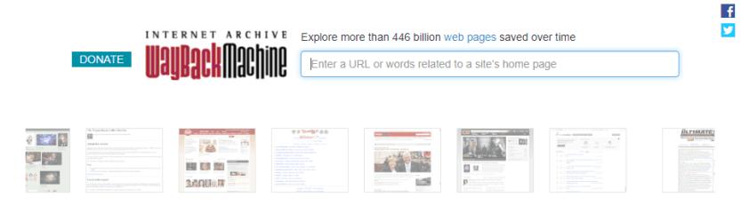 The Wayback Machine tool.