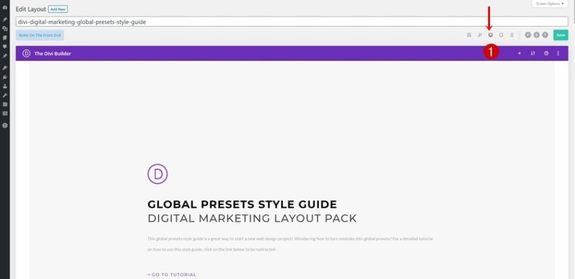 App Developer global presets style guide