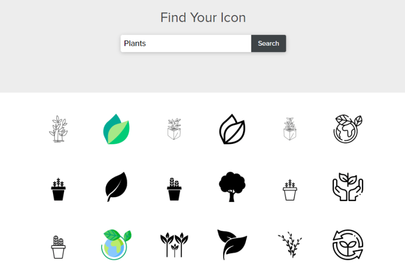 Choosing an icon for your logo.
