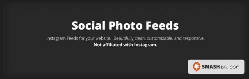 The Smash Balloon Social Photo Feed plugin.