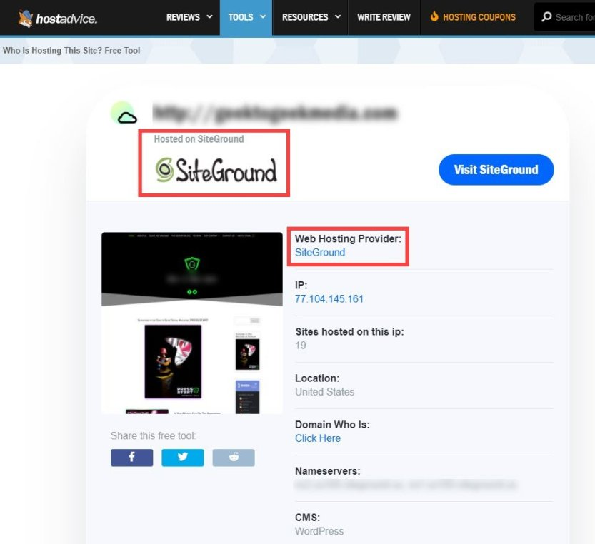 siteground is hosting this website