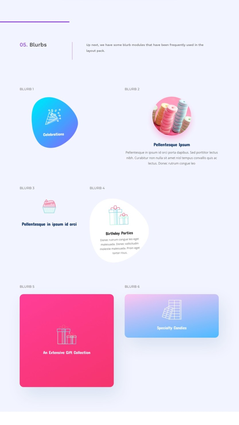 candy shop global presets style guide