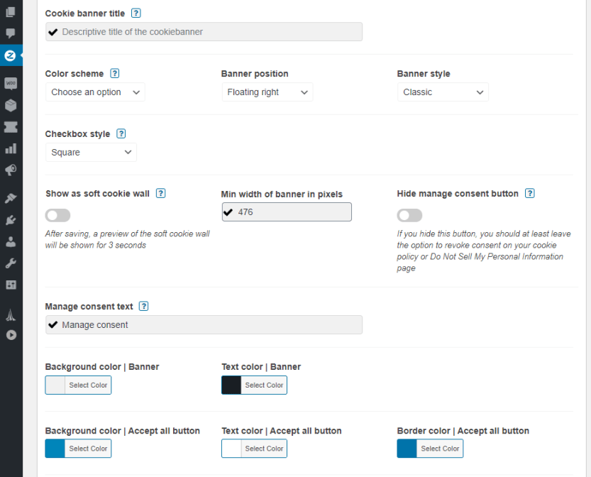 Customizing your cookie opt-in's style.
