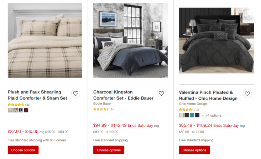A shop page from Target