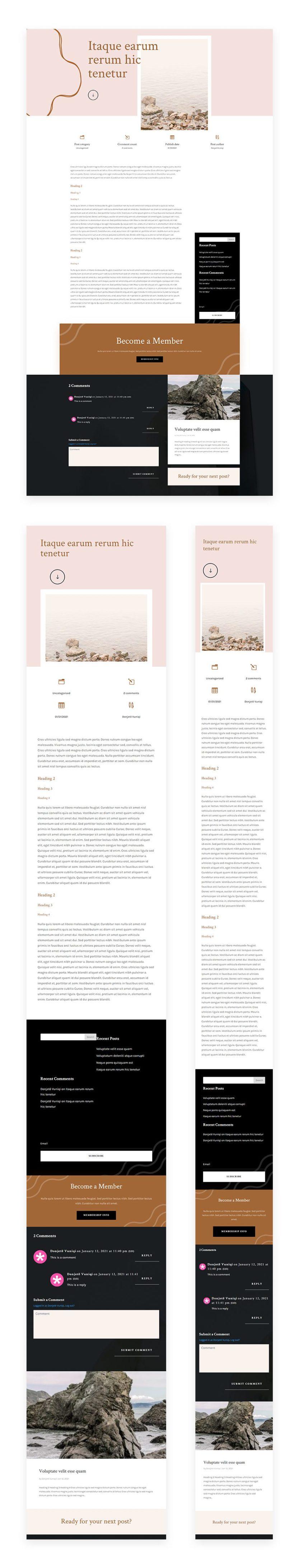 meditation center blog post template