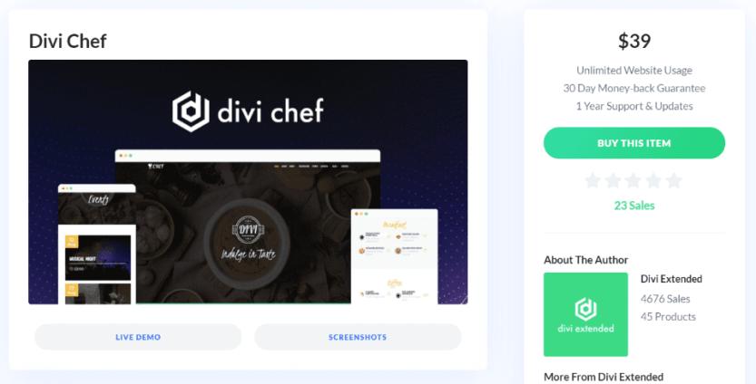 Where to Purchase Divi Chef Child Theme