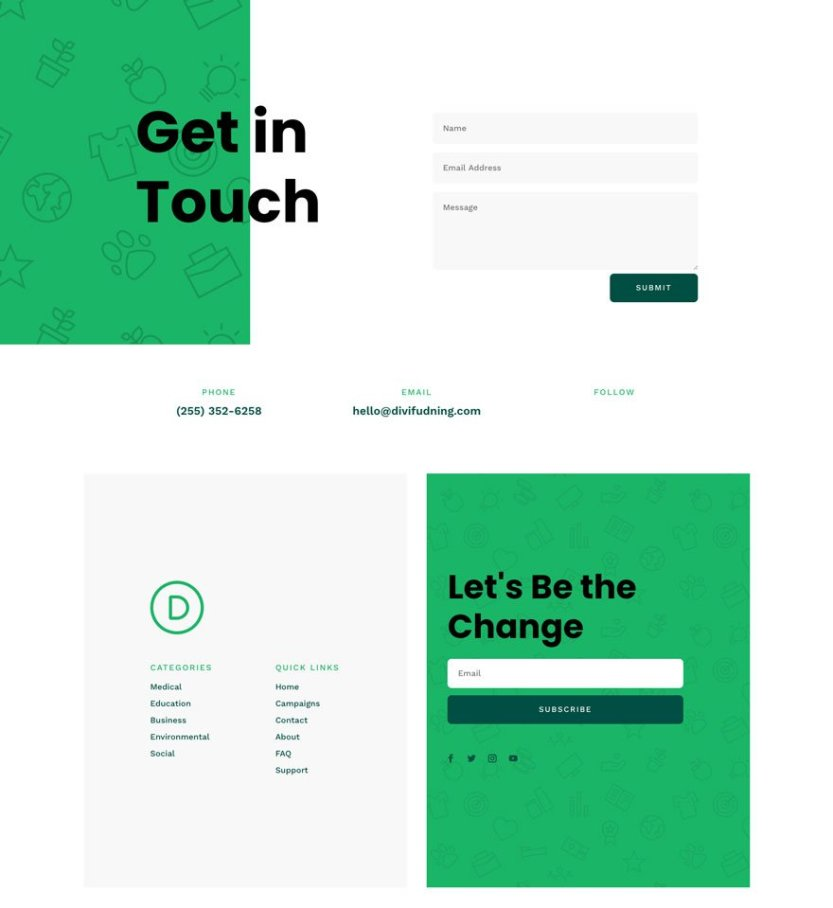divi crowdfunding layout pack