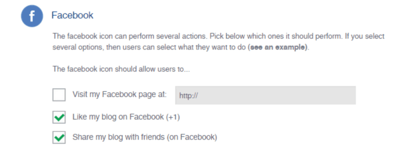 Modifying your Facebook social media icon functionality