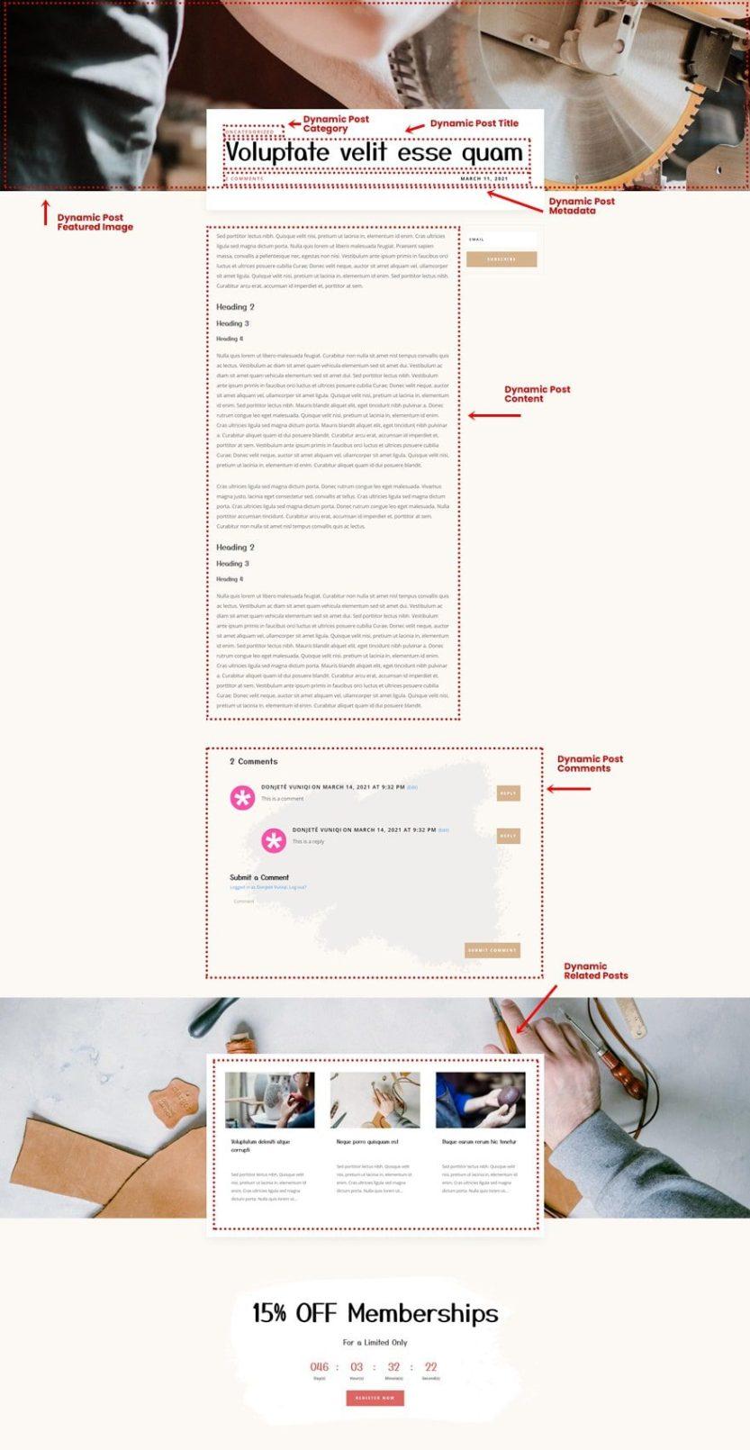 craft school blog post template