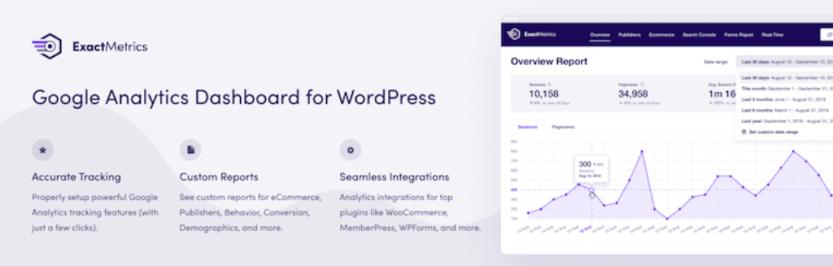 The ExactMetrics WordPress plugin.