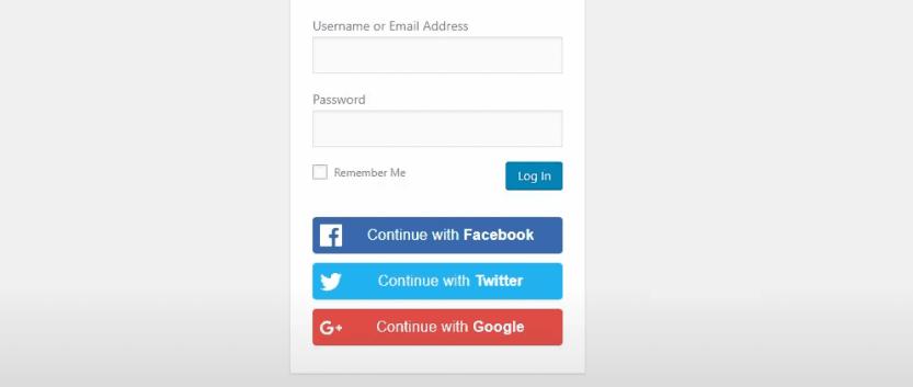 Adding social login functionality to WordPress