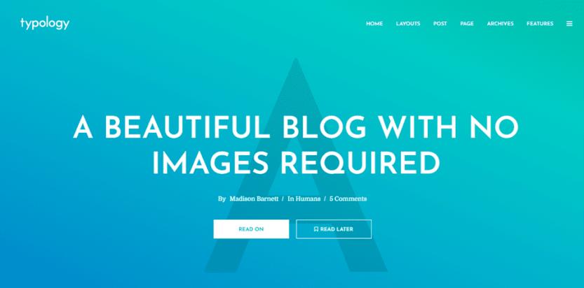blogger themes typology