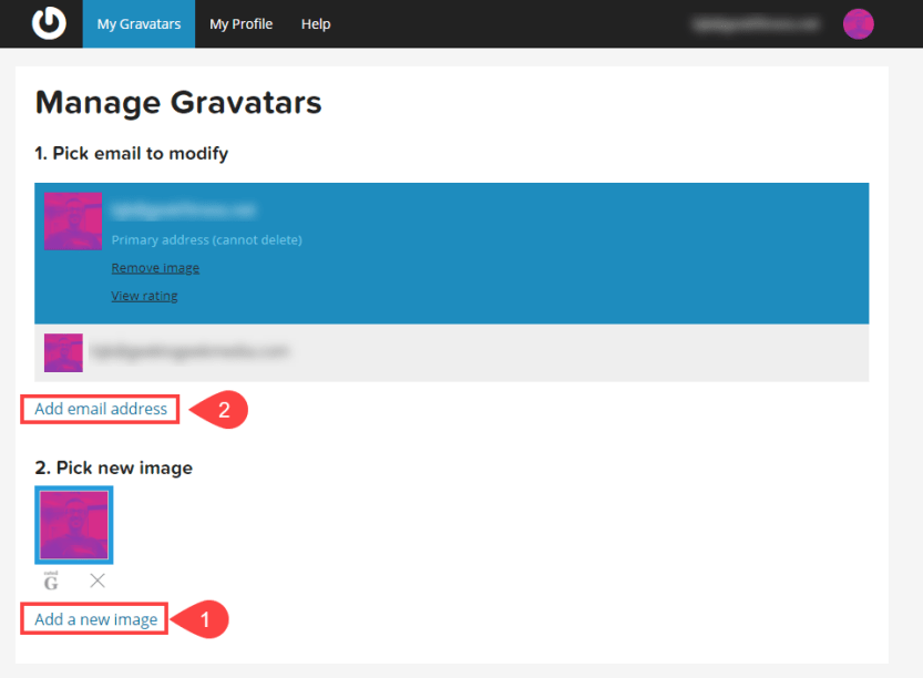 gravatar new image