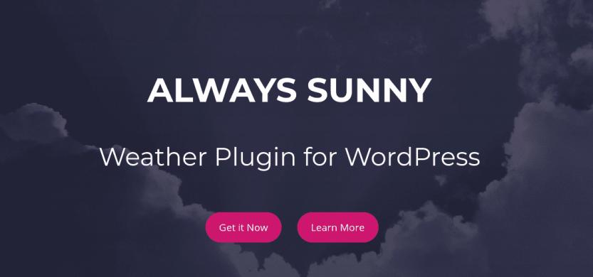 The Always Sunny weather plugin.