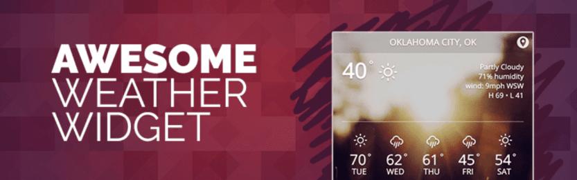 The Awesome Weather Widget WordPress plugin.