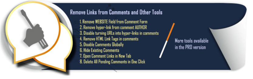 The Comment Link Remove plugin.