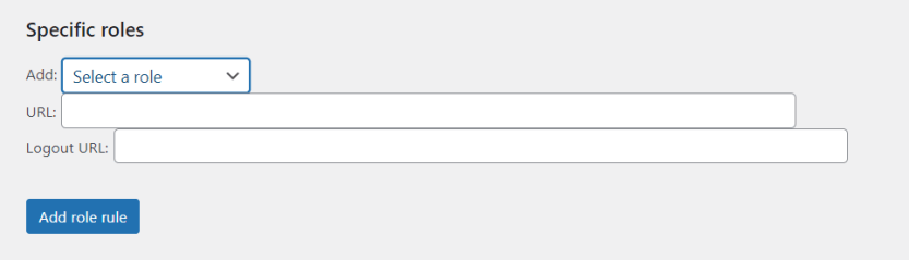 Setting up login redirection rules