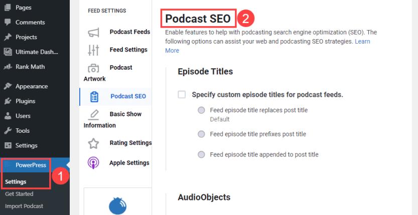podcast seo with powerpress