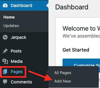 wordpress set homepage