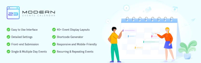 The Modern Events Calendar Lite plugin