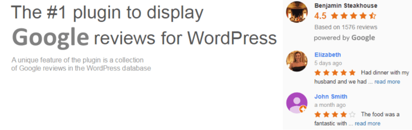 Widget for Google Reviews