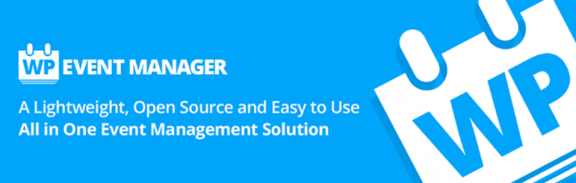 The WP Event Manager plugin