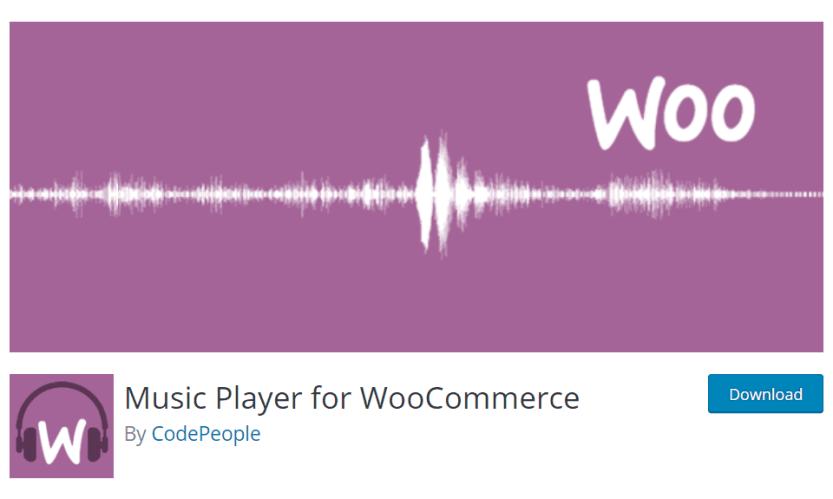 woocommerce audio player