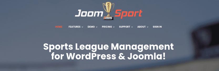 The JoomSport plugin website.