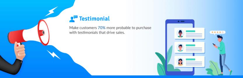 Testimonial, a WordPress portfolio plugin.