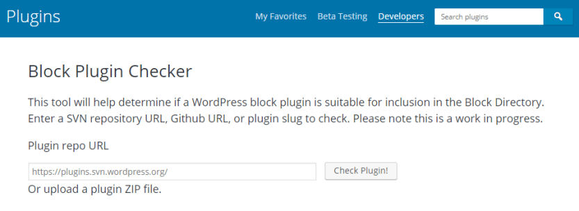 plugin validator