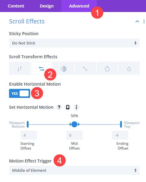 row settings