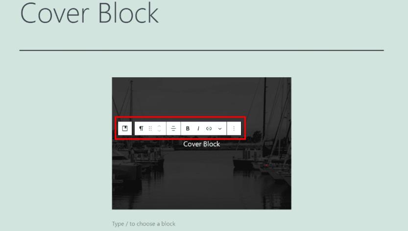 Cover Block Content