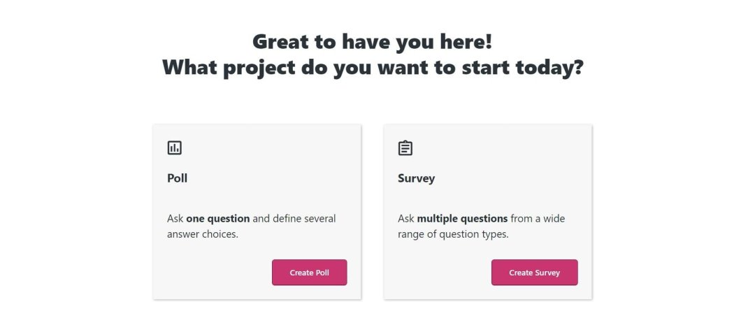 Creating a new poll or survey in Crowdsignal