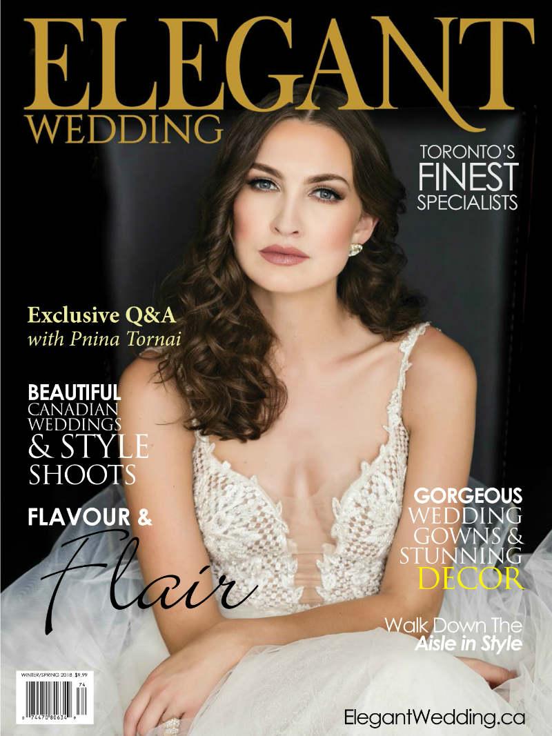 Elegant Wedding WS 2018 Toronto Cover ElegantWeddingca