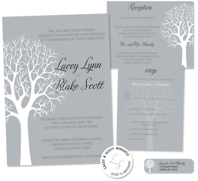 Ideas For Your Winter Wedding Invitation Parte Two