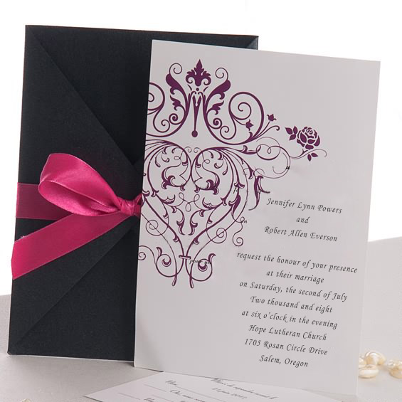 Inexpensive Vintage Wedding Invitations