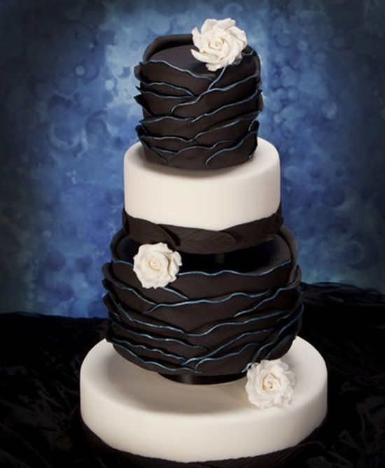 Special Wednesday Unique Wedding Cakes for You     black and white wedding cakes