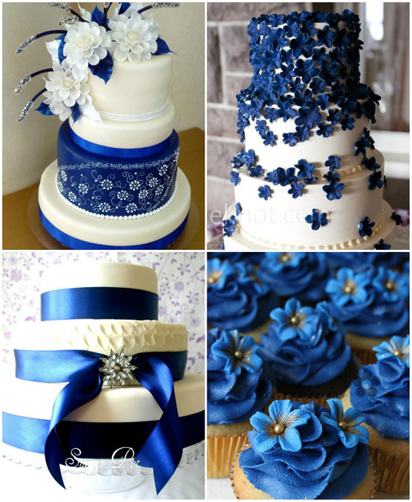 Royal Blue Wedding Ideas and Wedding Invitations     royal blue theme wedding cakes