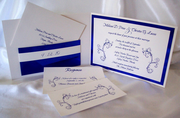 Royal Blue Wedding Ideas And Invitations