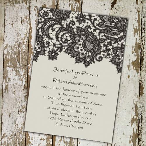 Lace Wedding Invitations Best Choice