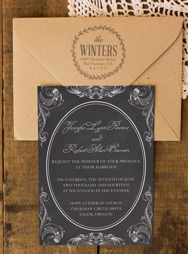 Top 10 Chalkboard Wedding Invitations For Rustic Weddings