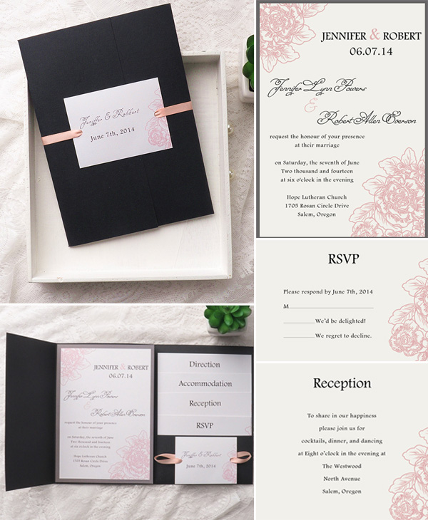How To Assemble Your Wedding Invitations With Pockets